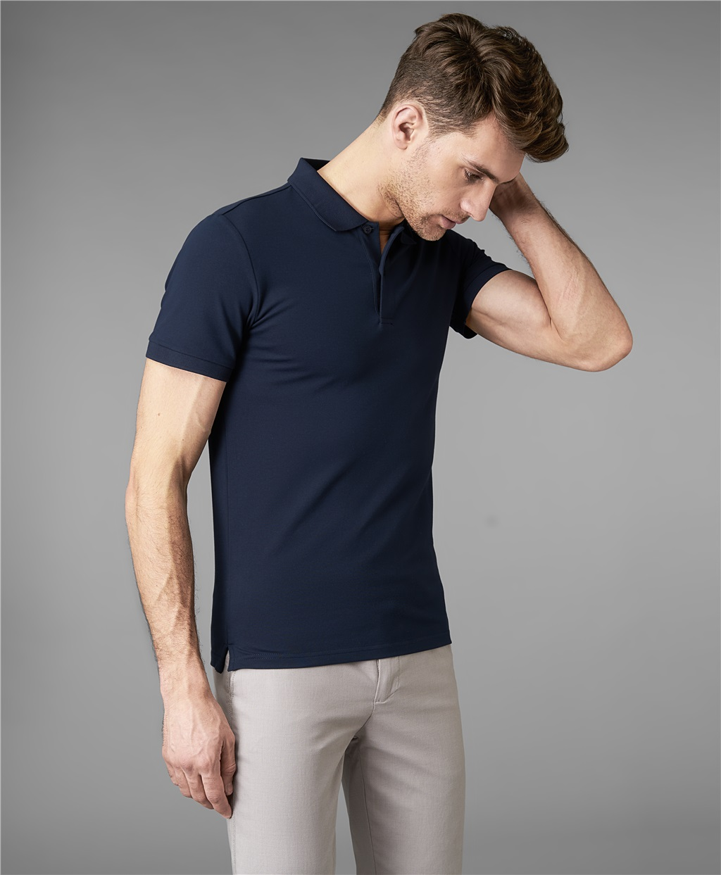 Рубашка поло HENDERSON HPS-0182-4 DNAVY фото