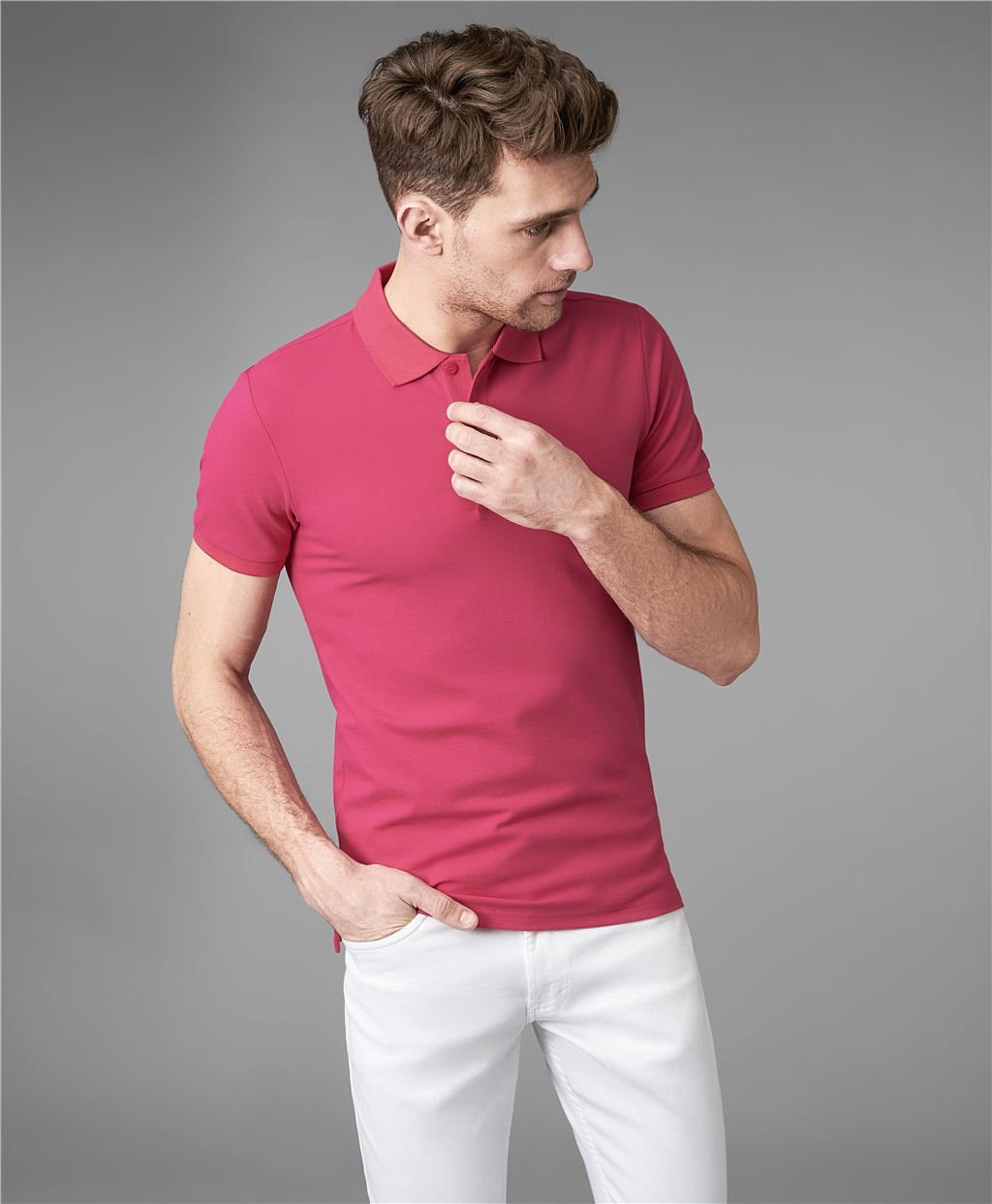 Рубашка поло HENDERSON HPS-0182-4 FUCHSIA фото