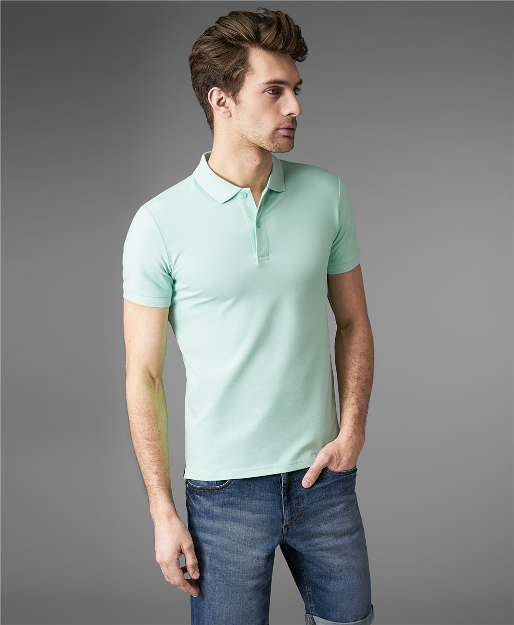 Рубашка поло HENDERSON HPS-0182-4 LGREEN фото