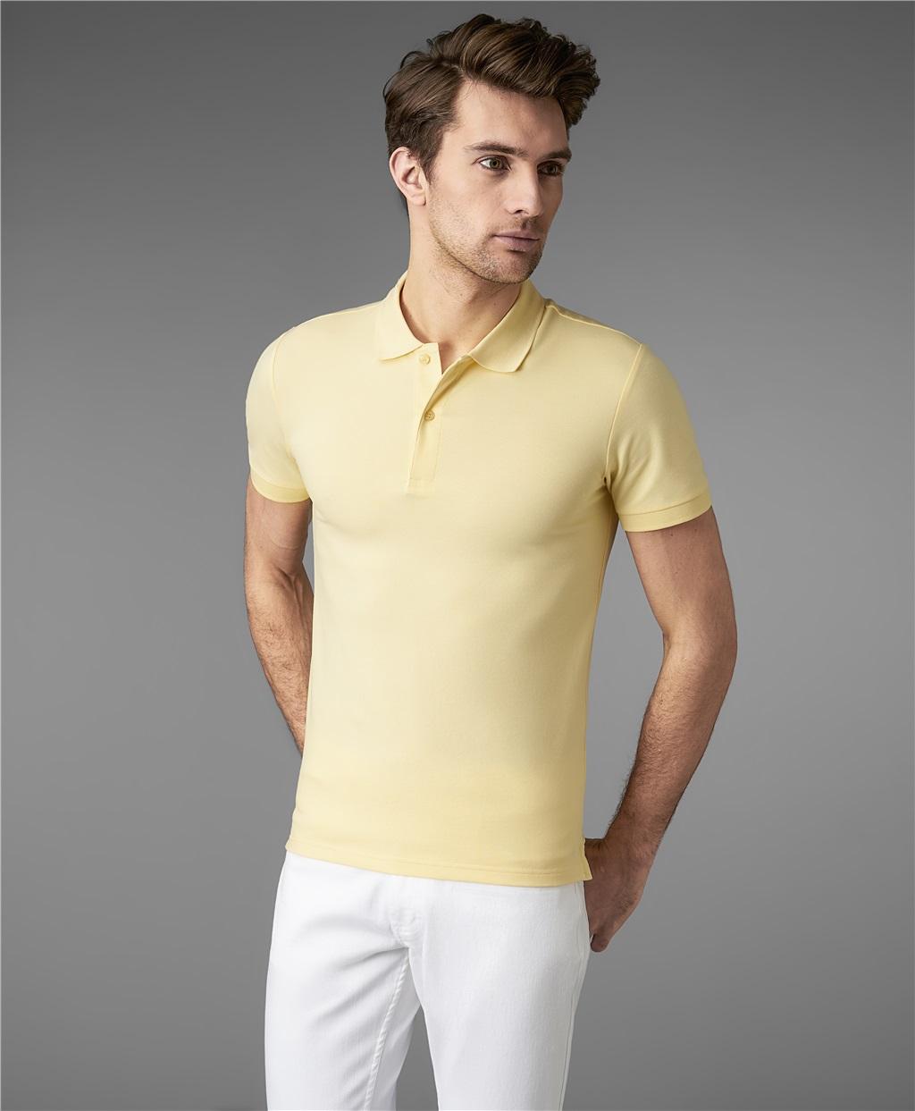 Рубашка поло HENDERSON HPS-0182-4 YELLOW фото