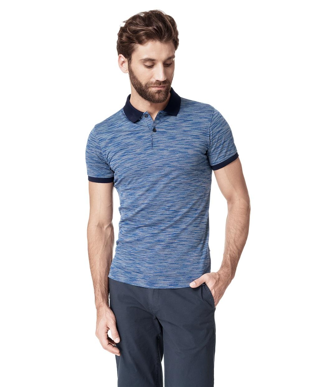 Рубашка поло HAYAS HPS-0239 BLUE фото