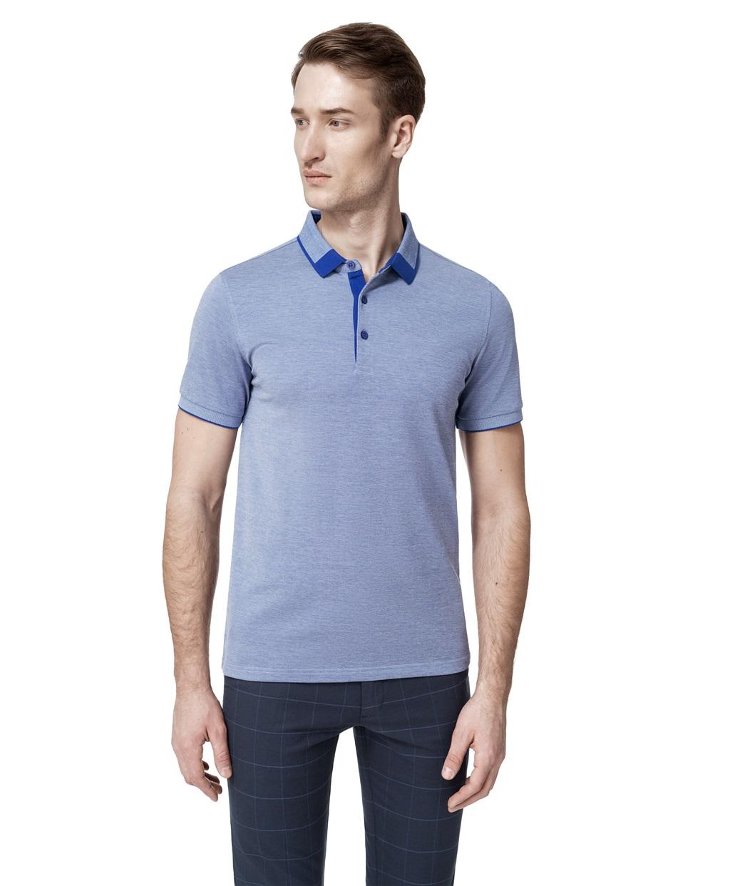Рубашка поло HAYAS HPS-0253-1 BLUE фото