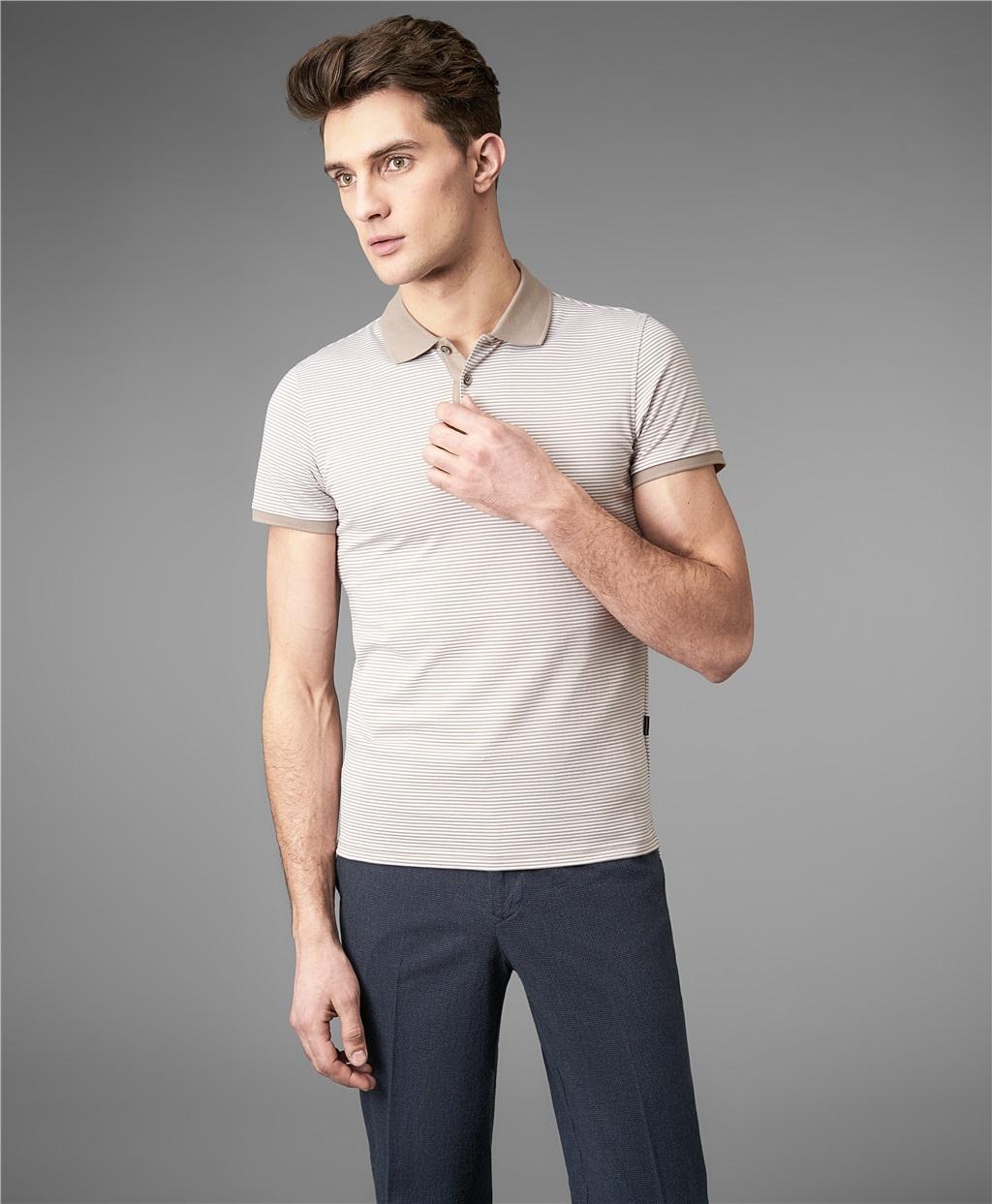 Рубашка поло HENDERSON HPS-0256-1 BEIGE фото