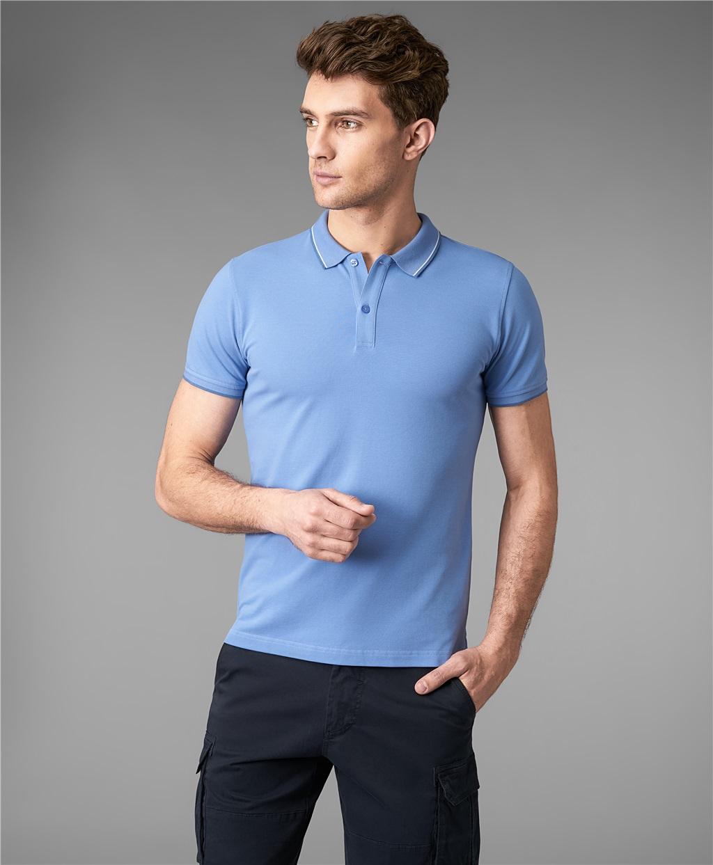 Рубашка поло HENDERSON HPS-0264-1 DBLUE фото