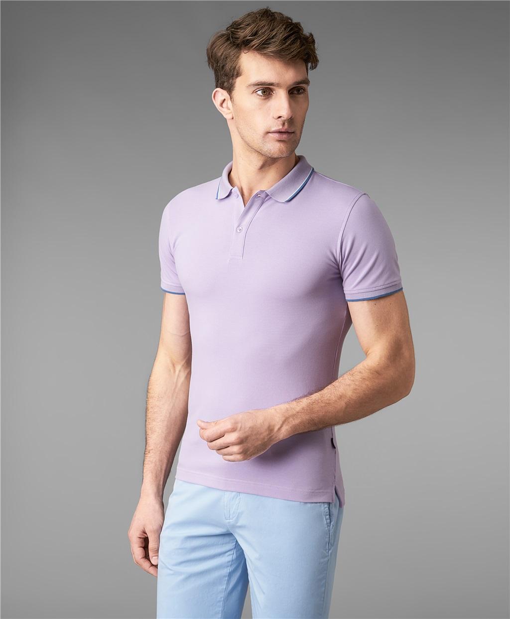 Рубашка поло HENDERSON HPS-0264-1 VIOLET фото