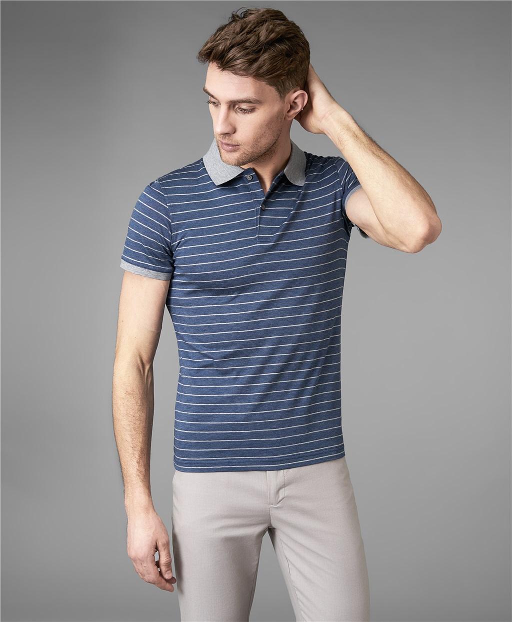 Рубашка поло HENDERSON HPS-0278 DBLUE фото