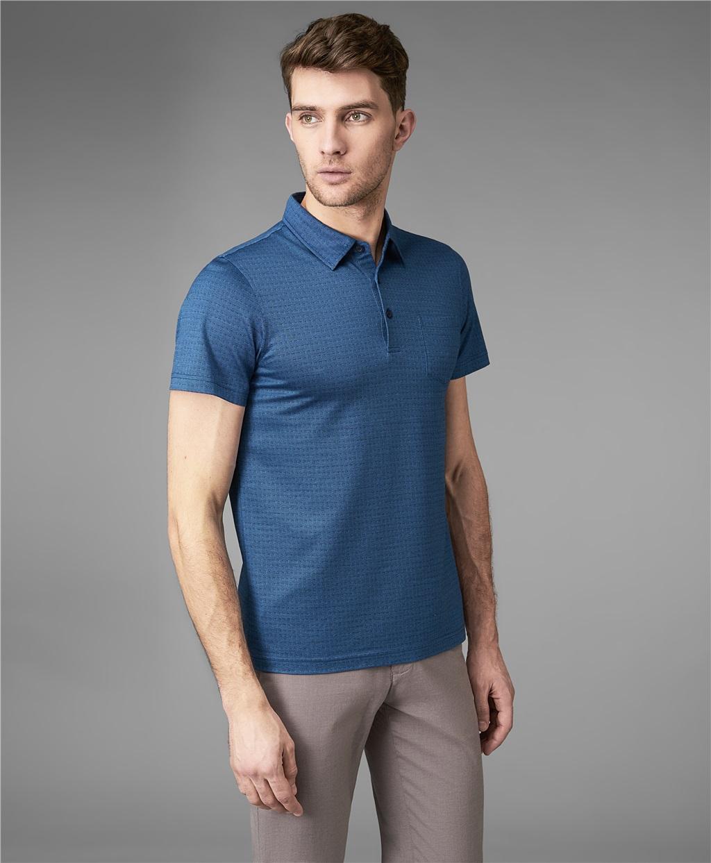 Рубашка поло HENDERSON HPS-0283 DBLUE фото
