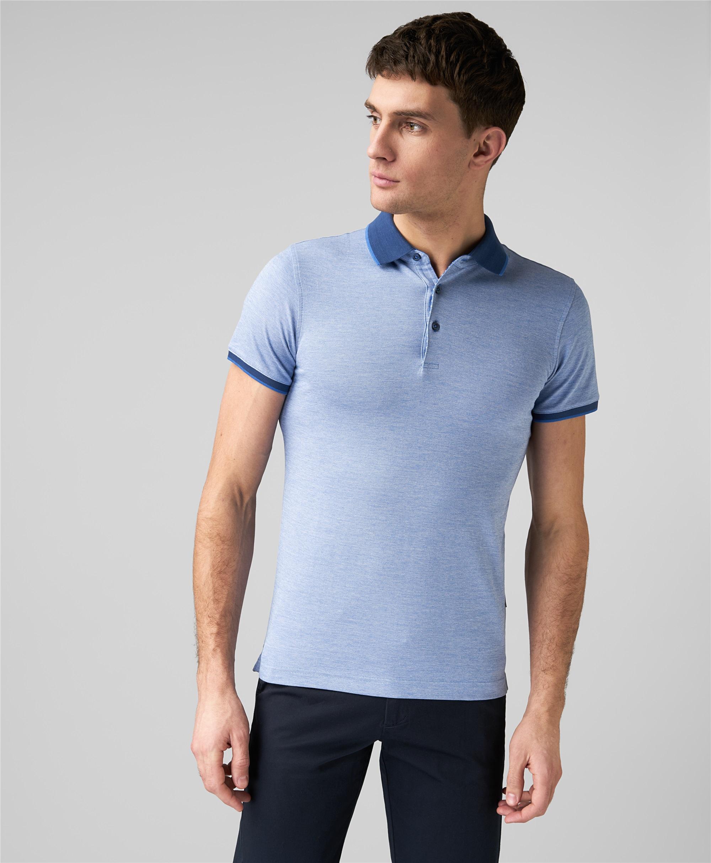 Рубашка поло HENDERSON HPS-0287-1 BLUE фото