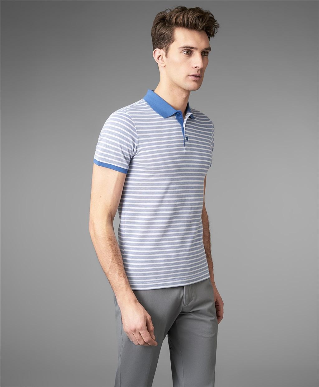Рубашка поло HENDERSON HPS-0288 BLUE фото