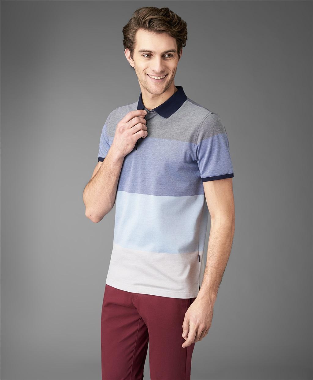 Рубашка поло HENDERSON HPS-0289 DBLUE фото