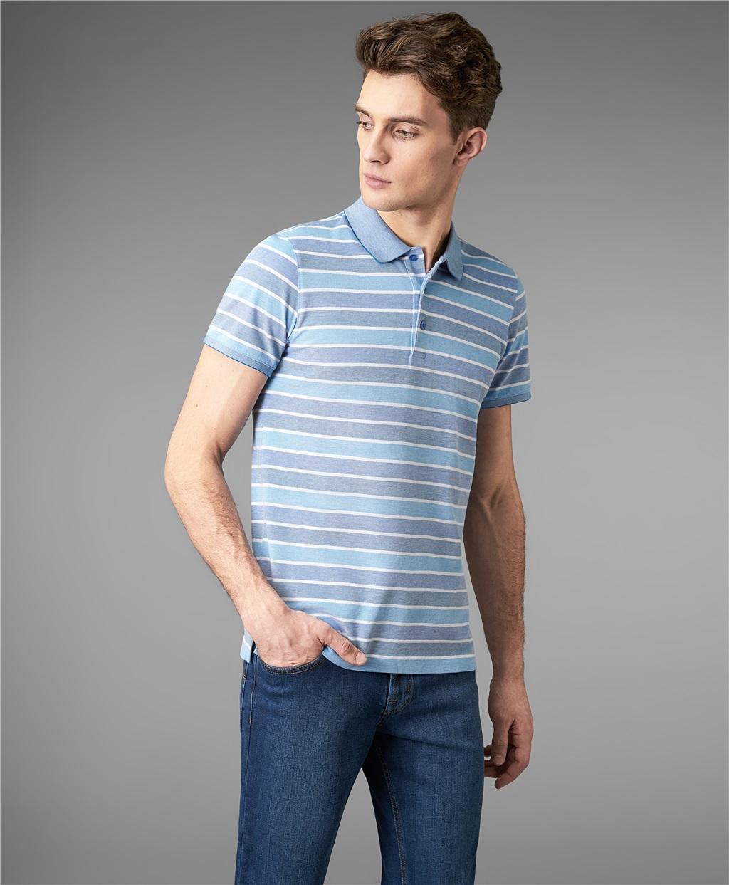 Рубашка поло HENDERSON HPS-0290 BLUE фото