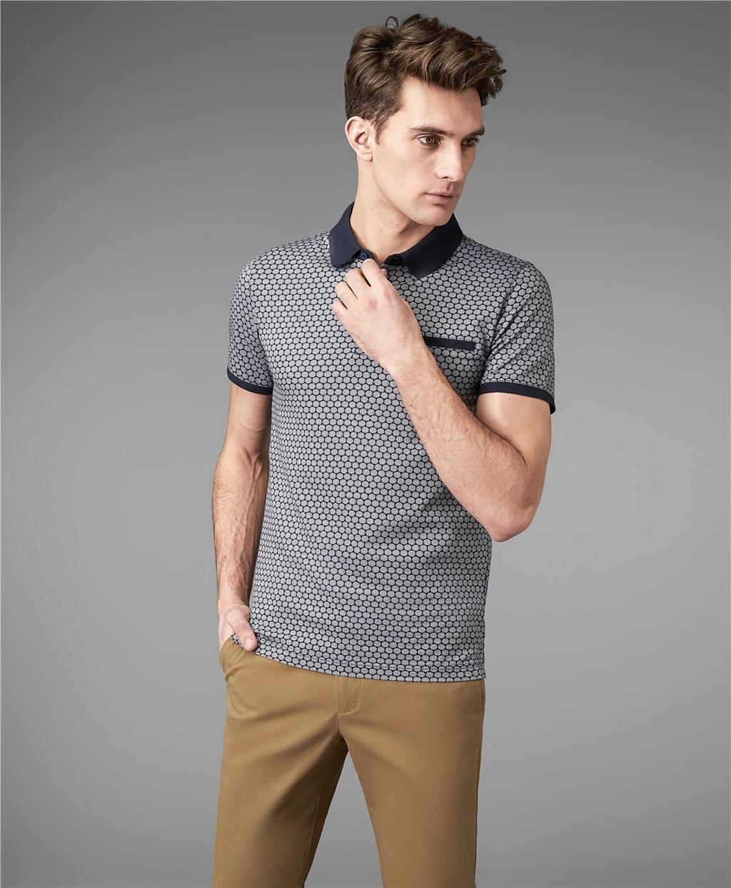Рубашка поло HENDERSON HPS-0298 NAVY фото