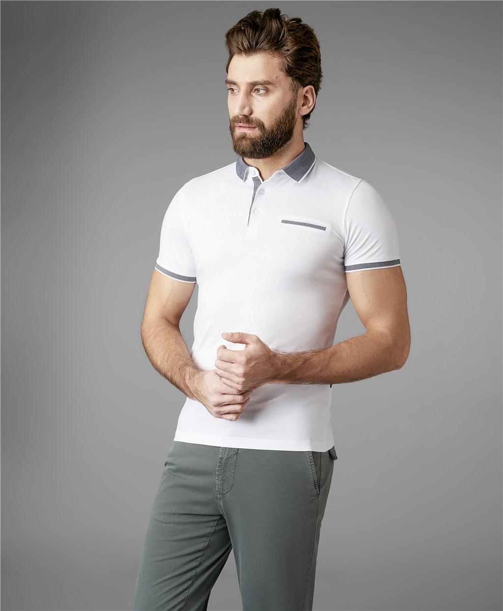 Рубашка поло HENDERSON HPS-0302 WHITE фото