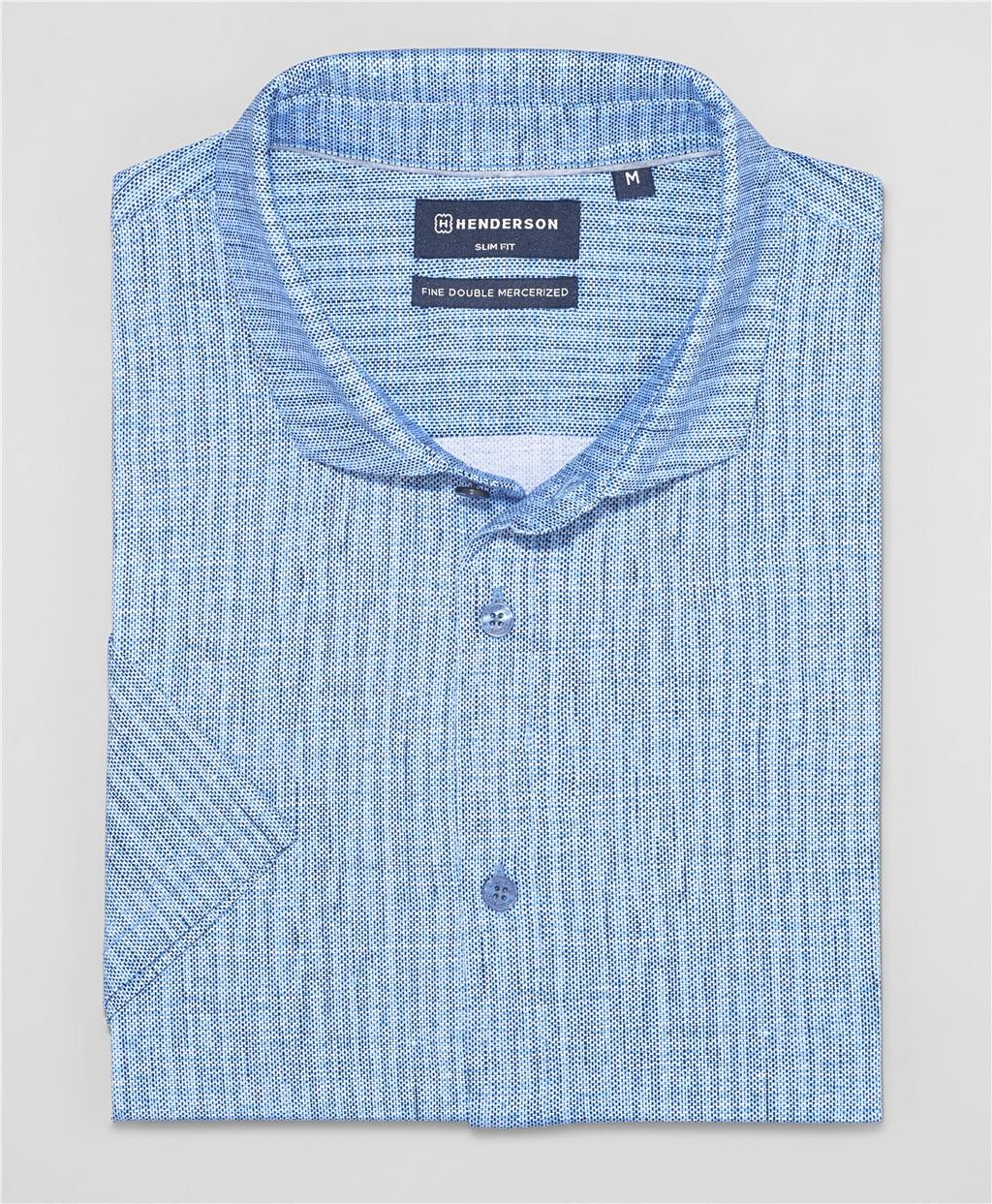 Рубашка трикотажная HENDERSON HSS-0085-1 BLUE фото