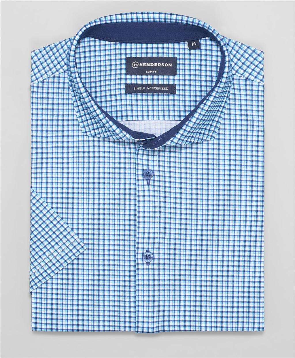 Рубашка трикотажная HENDERSON HSS-0103 BLUE фото