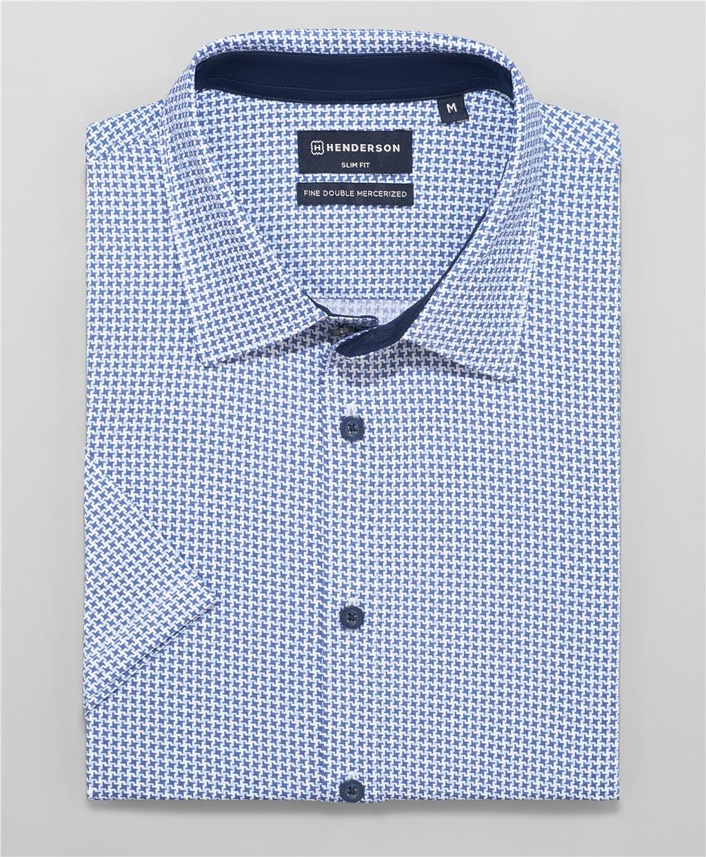 Рубашка трикотажная HENDERSON HSS-0104 LBLUE фото