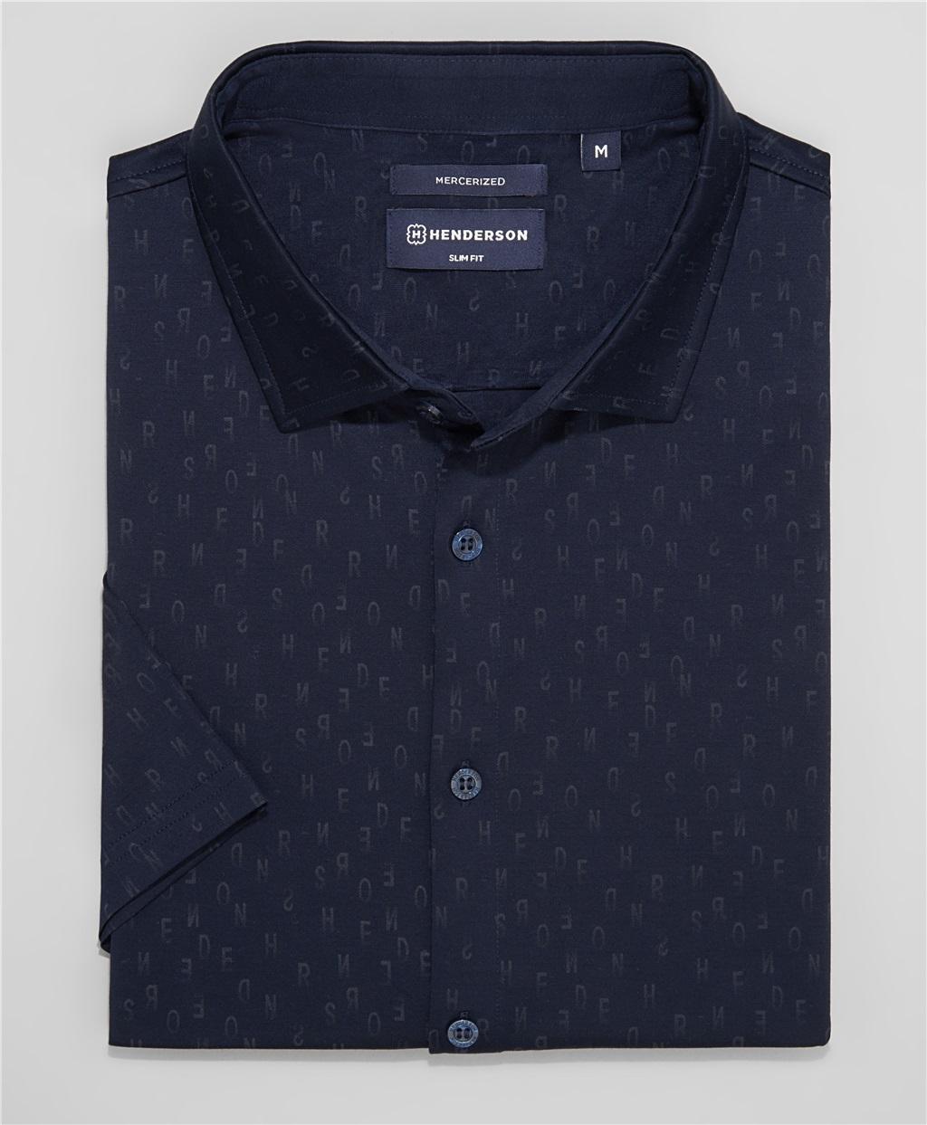 Рубашка трикотажная HENDERSON HSS-0106 DNAVY фото