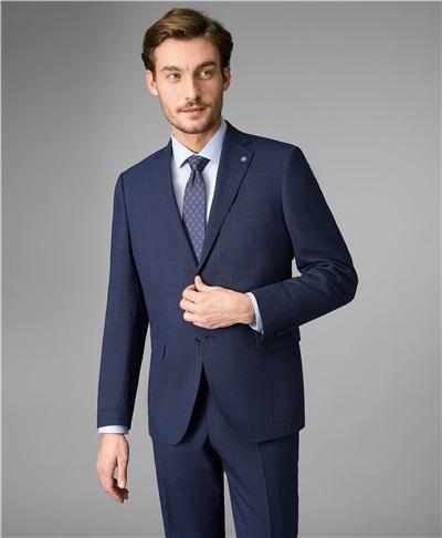 92262462037c Синие костюмы в клетку- купить синий костюм в клетку в интернет ...