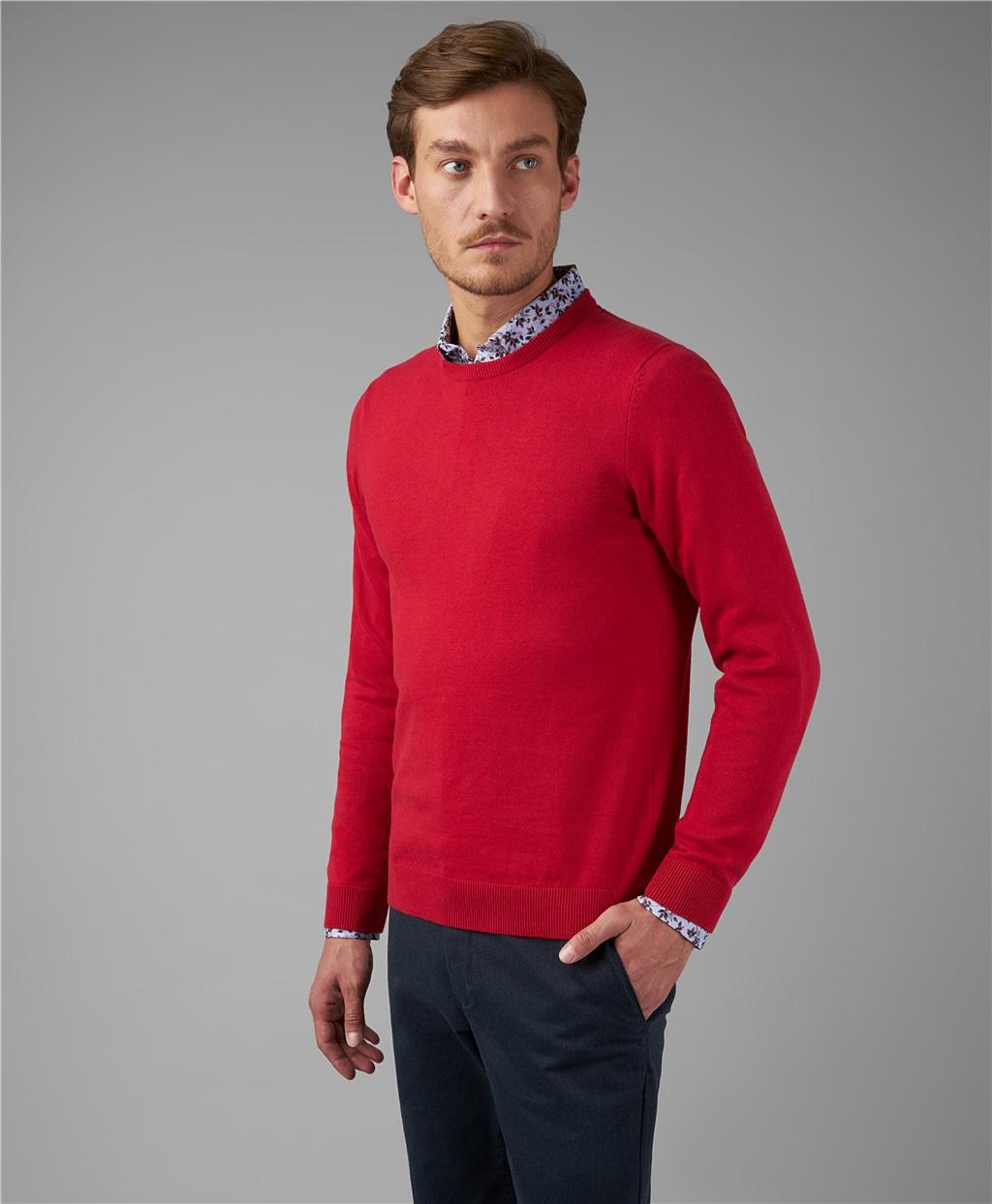 Пуловер трикотажный HENDERSON KWL-0678-1 RED фото