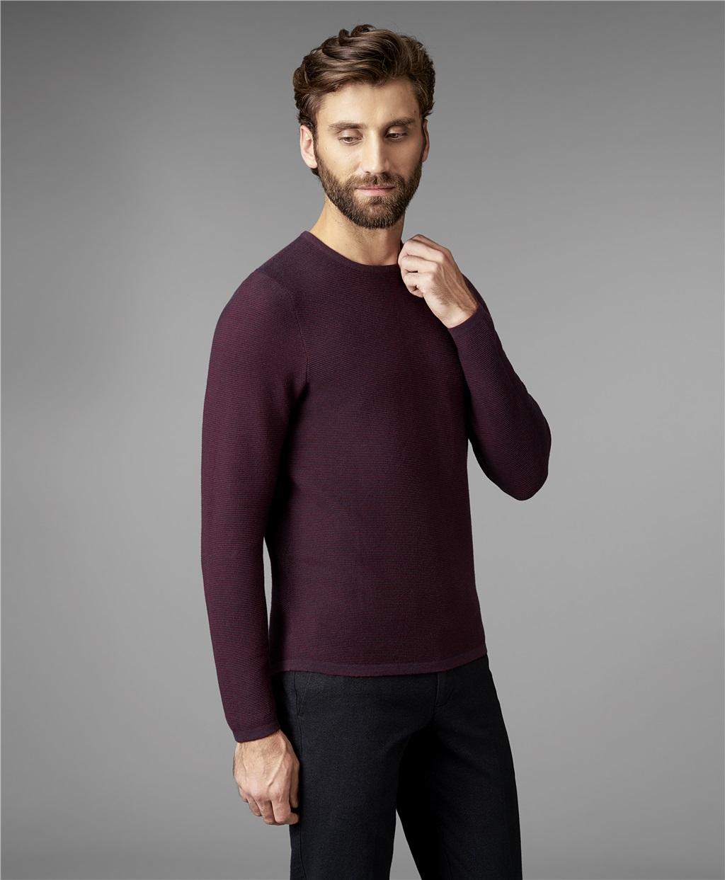 Пуловер трикотажный HENDERSON KWL-0685 BORDO фото