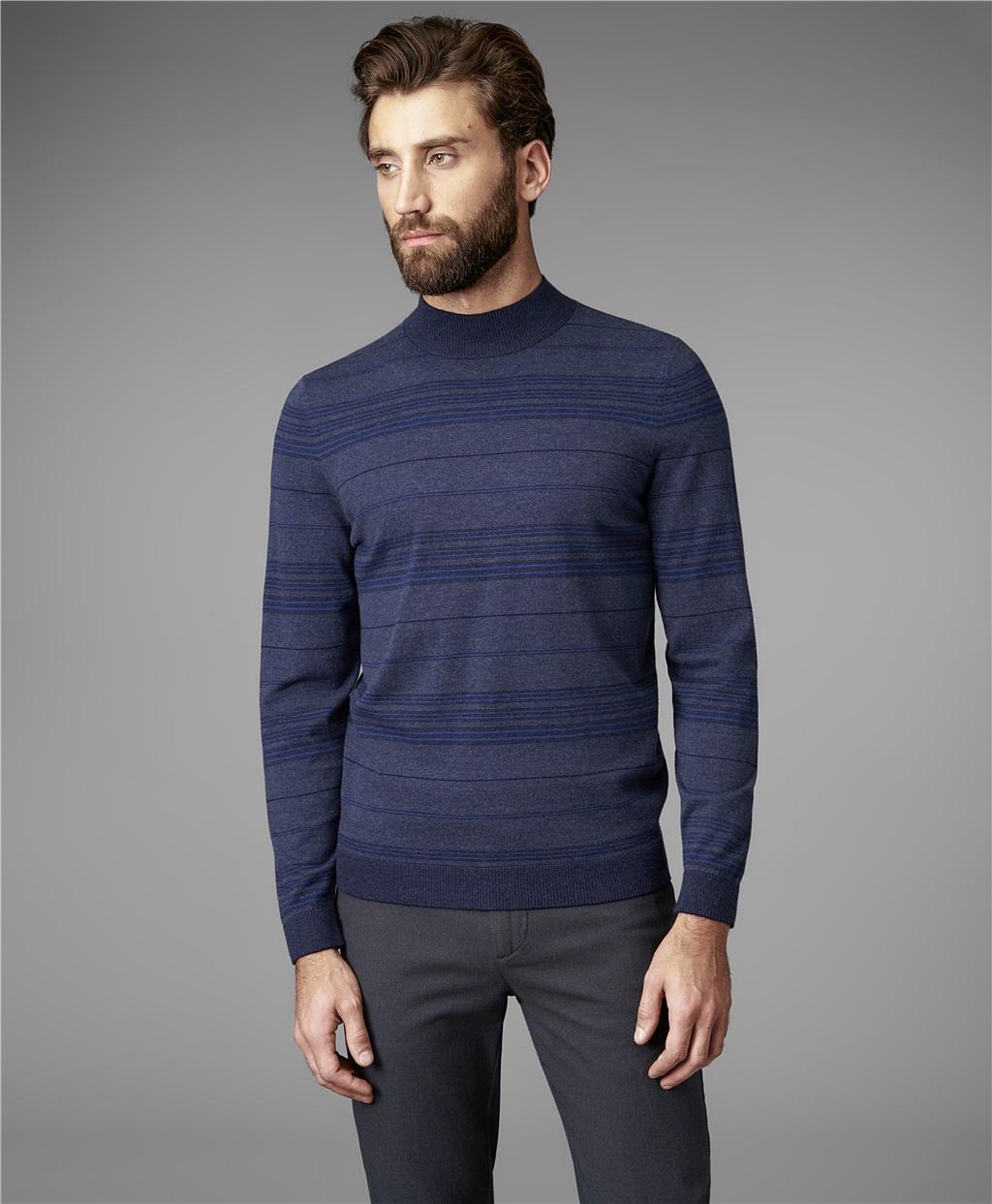 Пуловер трикотажный HENDERSON KWL-0697 LNAVY фото