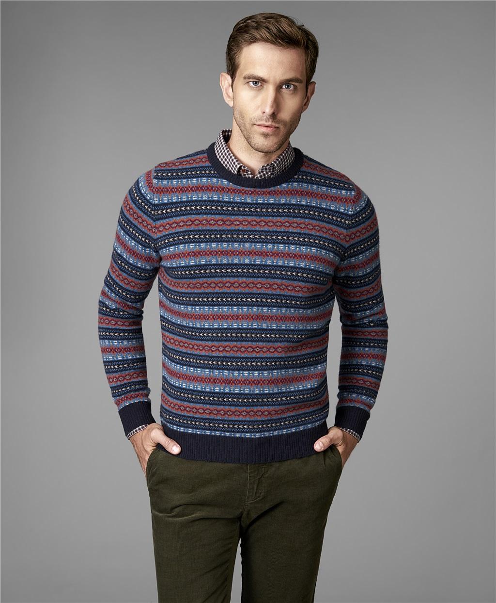 Пуловер трикотажный HENDERSON KWL-0720 NAVY фото