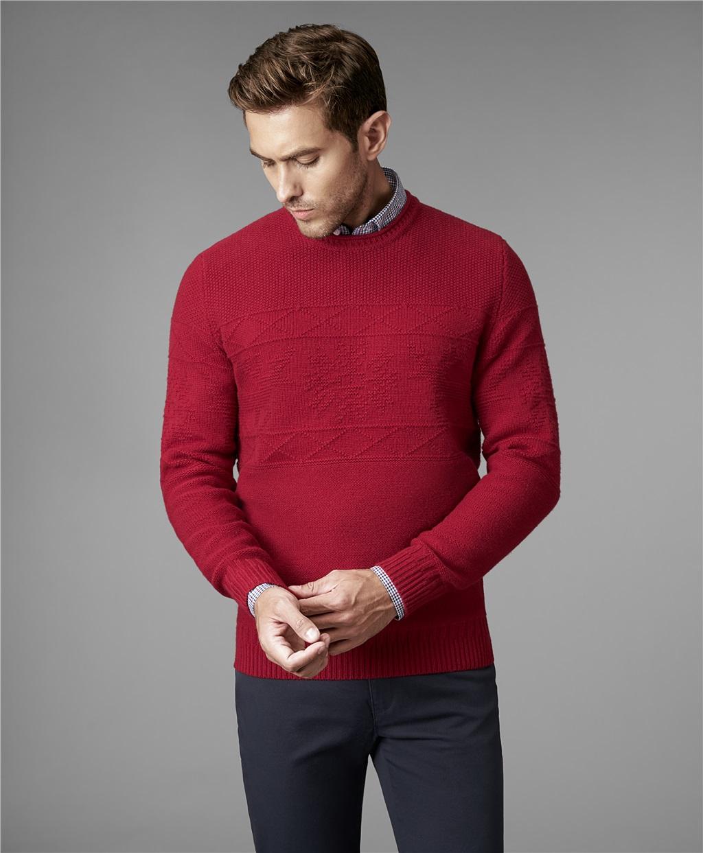 Пуловер трикотажный HENDERSON KWL-0721 RED фото