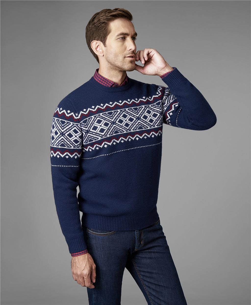 Пуловер трикотажный HENDERSON KWL-0722 NAVY фото