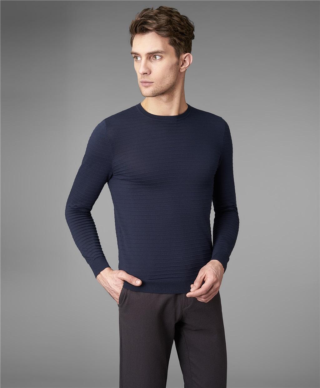 Пуловер трикотажный HENDERSON KWL-0738 NAVY фото