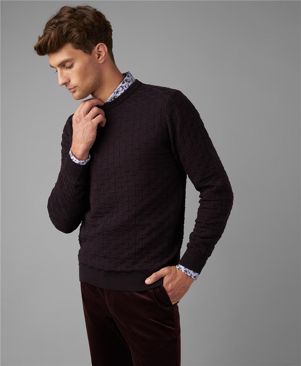 Пуловер трикотажный HENDERSON KWL-0751 AUBERGINE фото