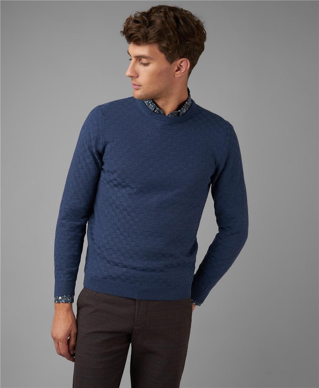 Пуловер трикотажный HENDERSON KWL-0781 LNAVY фото