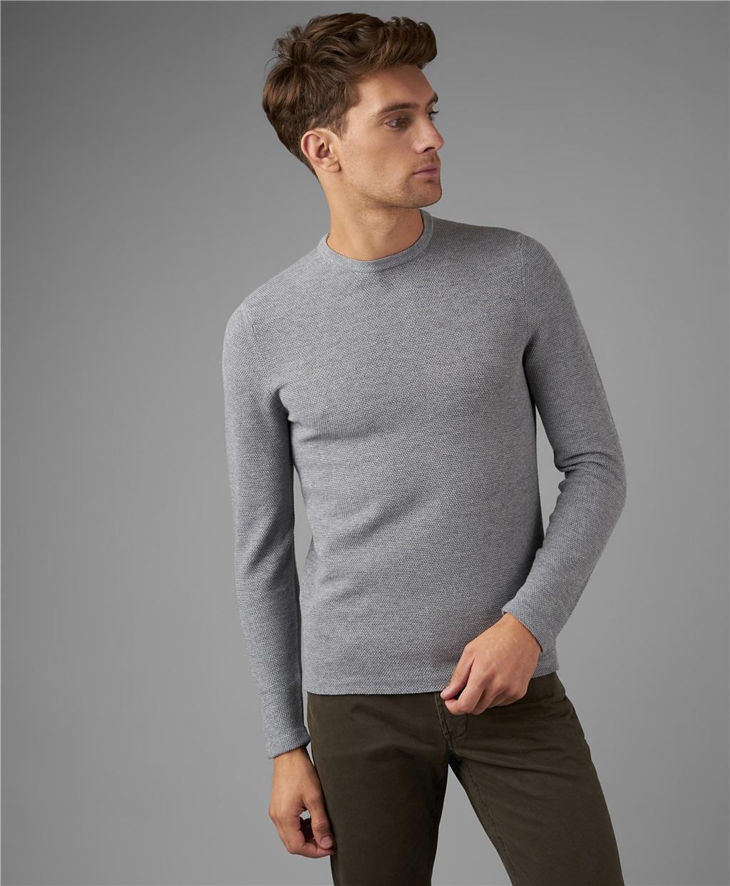 Пуловер трикотажный HENDERSON KWL-0782 LGREY фото