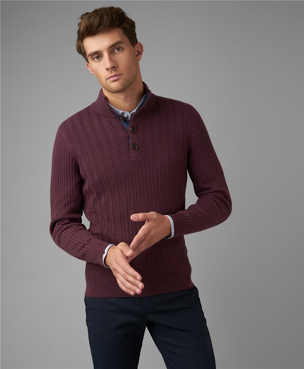 Пуловер трикотажный HENDERSON KWL-0787 BORDO фото