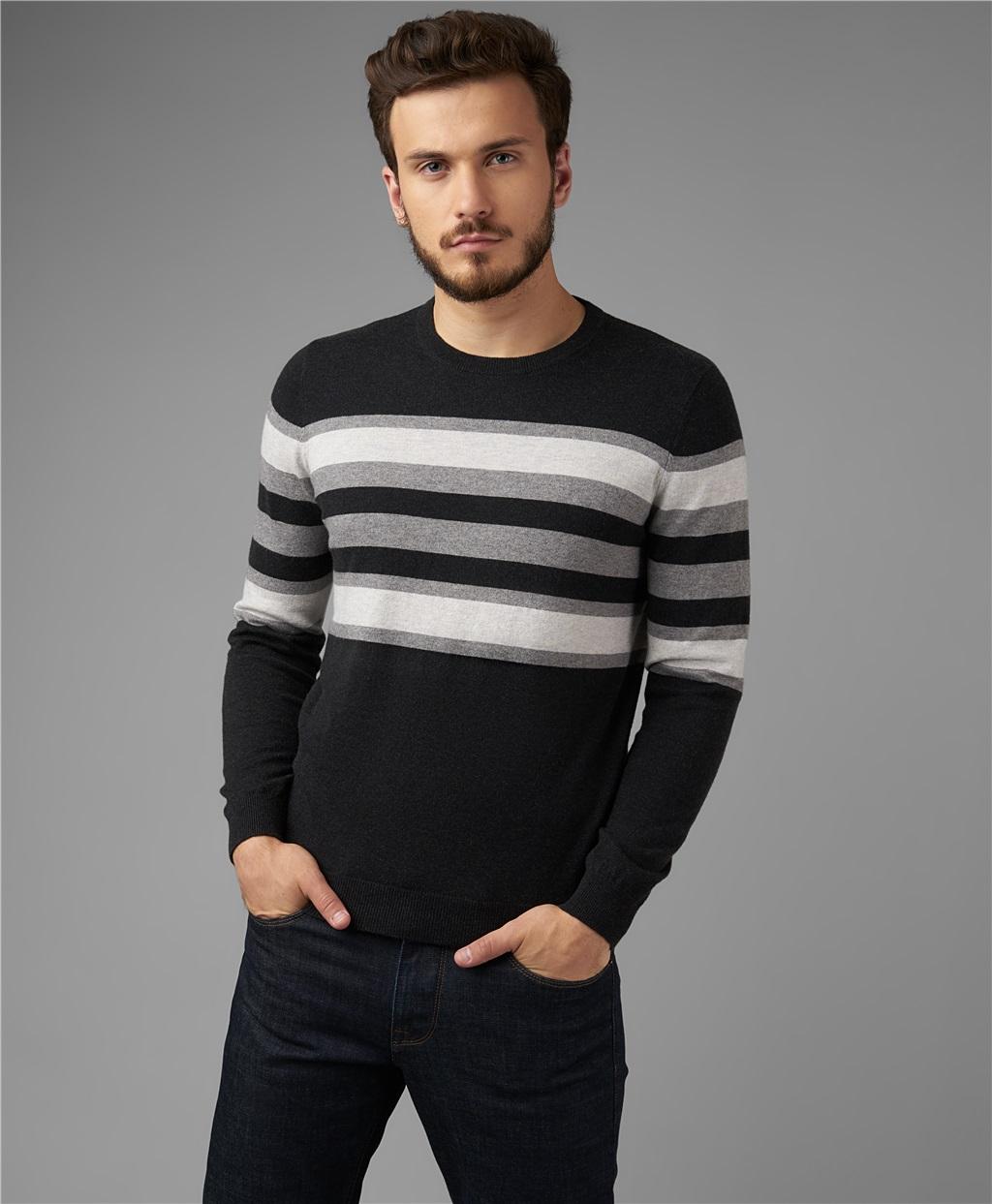 Пуловер трикотажный HENDERSON KWL-0791 GREY фото