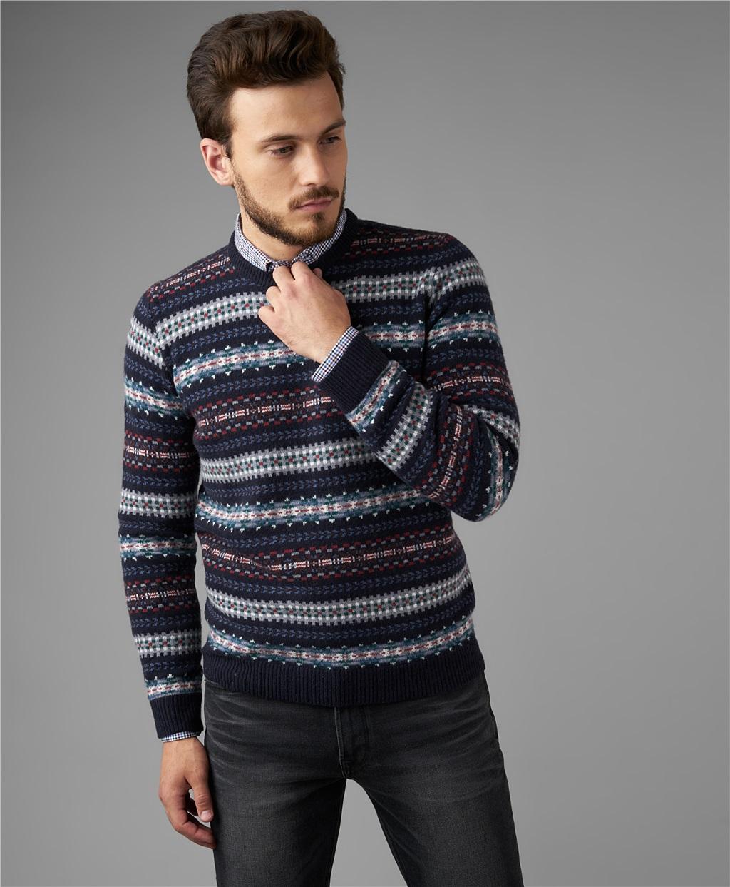 Пуловер трикотажный HENDERSON KWL-0792 NAVY фото