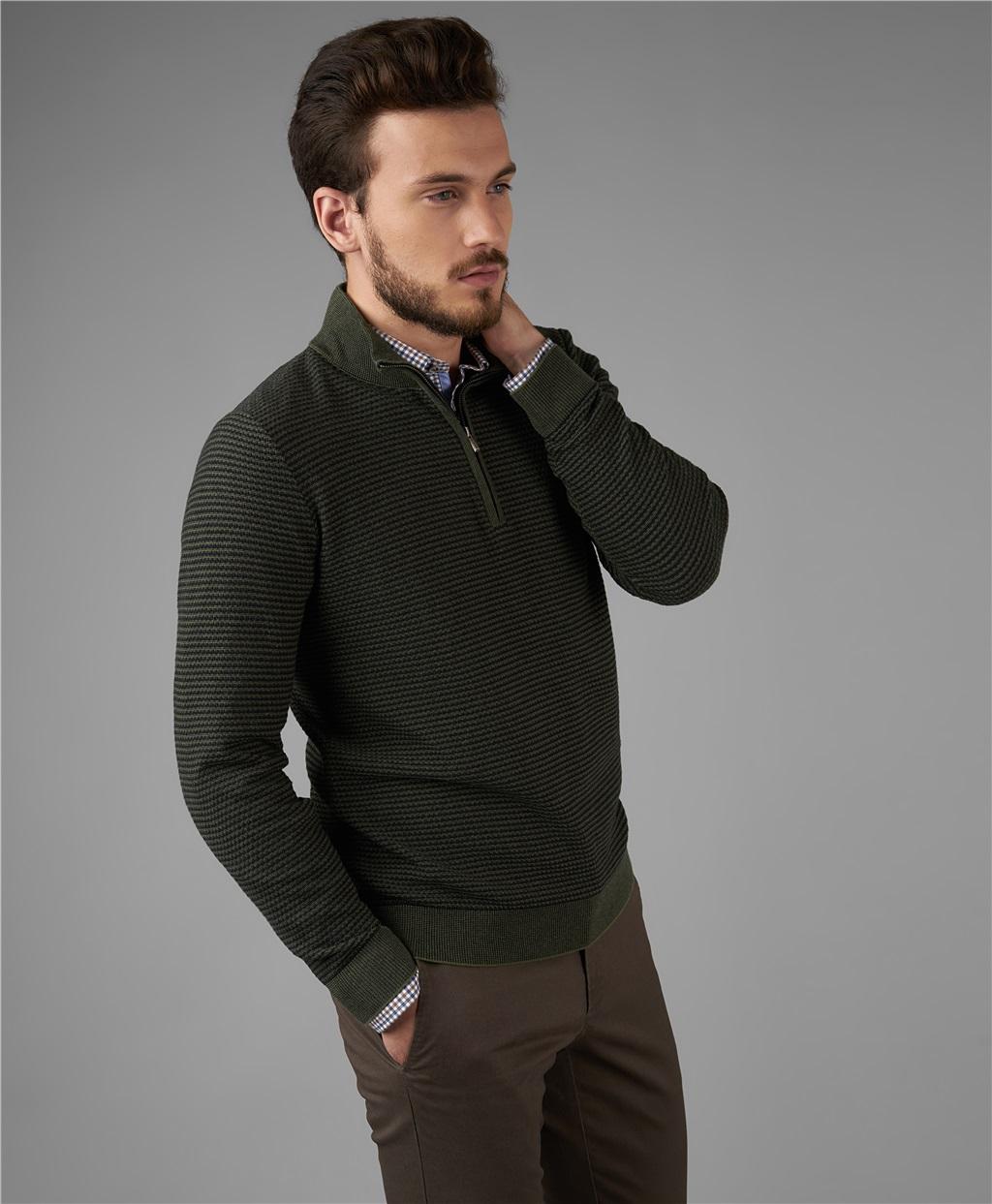 Пуловер трикотажный HENDERSON KWL-0799 KHAKI фото