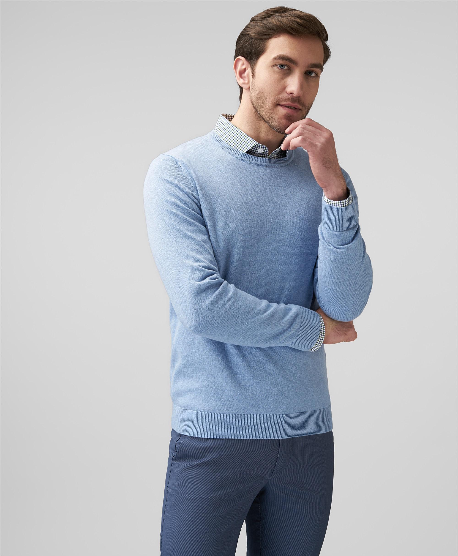 Пуловер трикотажный HENDERSON KWL-0811 BLUE фото