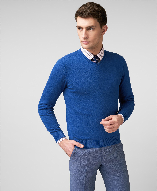 Пуловер трикотажный HENDERSON KWL-0813 LNAVY фото