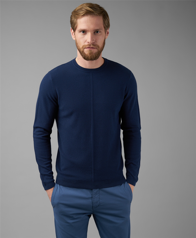 Пуловер трикотажный HENDERSON KWL-0815 NAVY фото