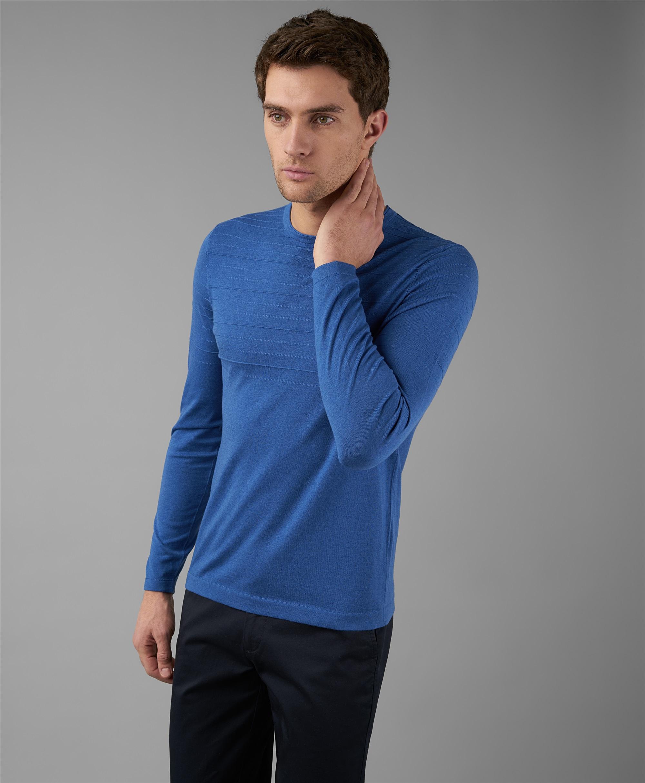 Пуловер трикотажный HENDERSON KWL-0816 LNAVY фото