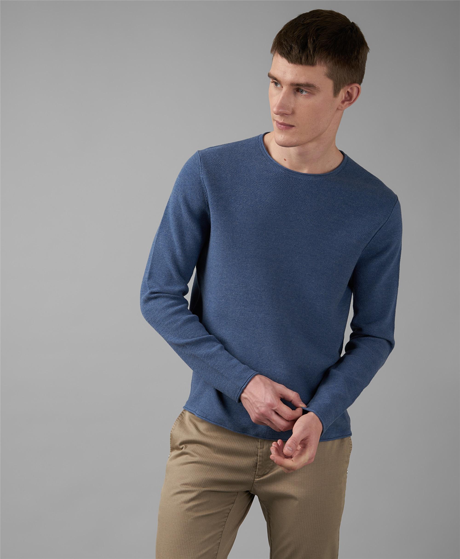 Пуловер трикотажный HENDERSON KWL-0820 LNAVY фото