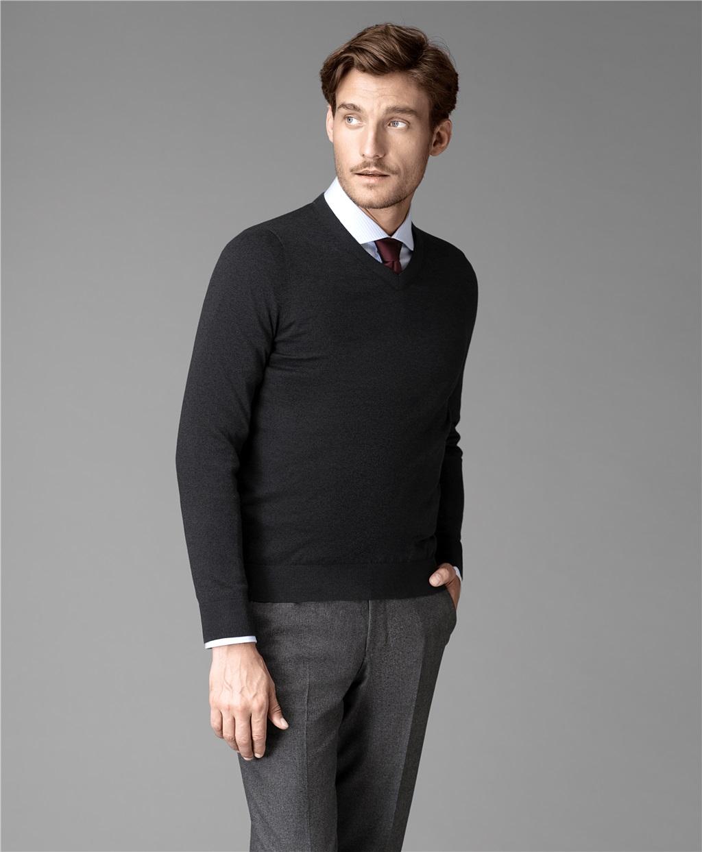 Пуловер трикотажный HENDERSON KWL-VN-2 GREY фото