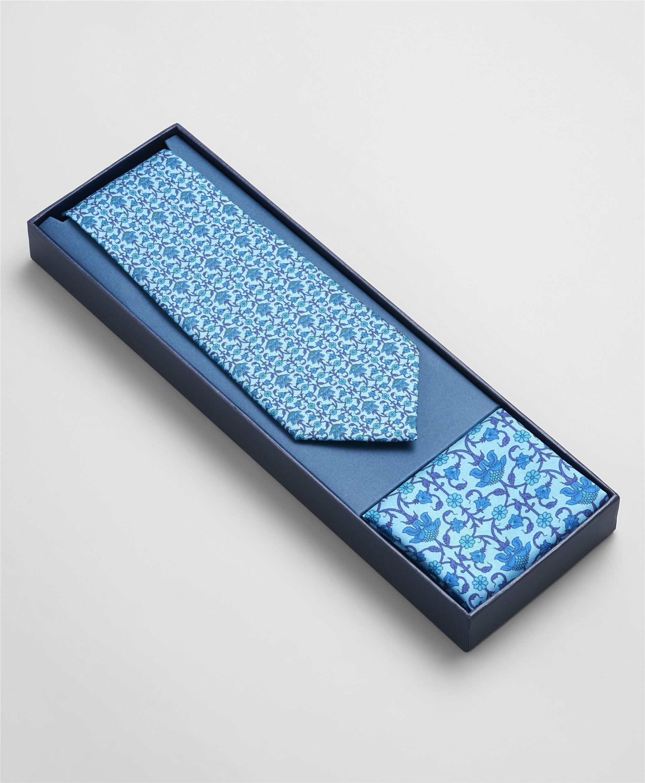 Комплект (Галстук и нагрудный платок) HENDERSON SET1-0004 BLUE фото