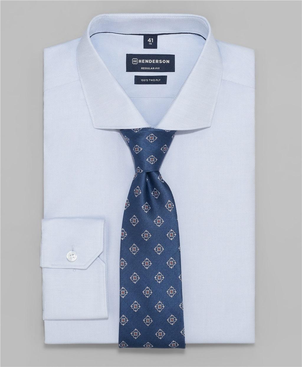 Рубашка прямой силуэт HENDERSON SHL-1103-N GREY фото