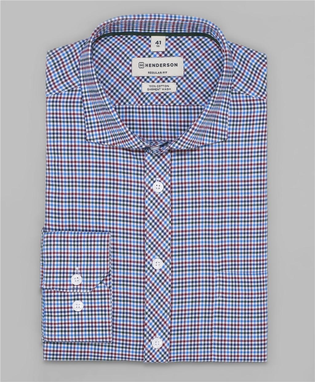 Рубашка прямой силуэт HENDERSON SHL-1117-N BLUE фото
