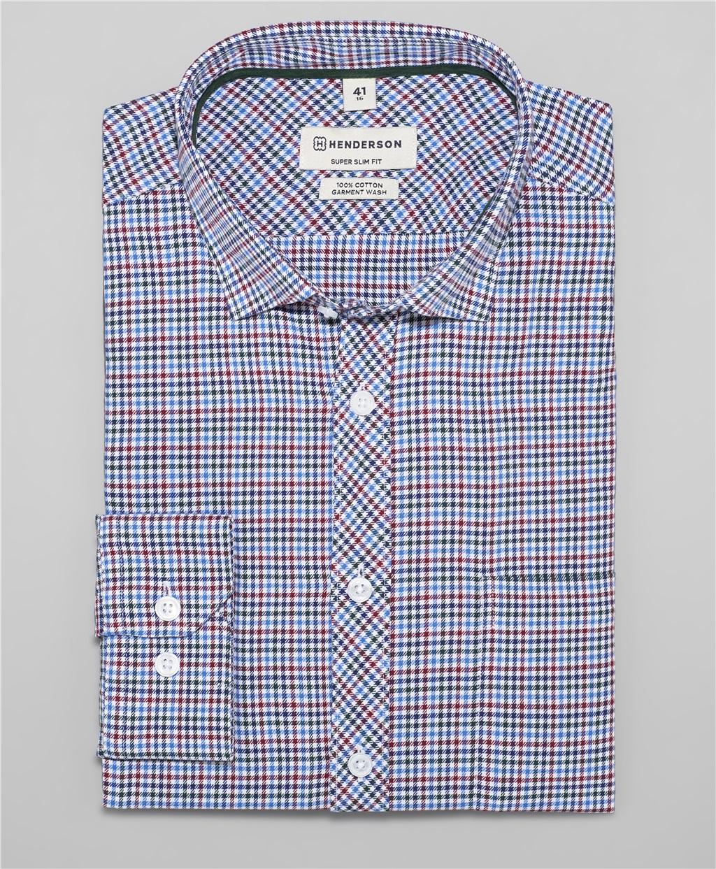 Рубашка прилегающий силуэт HENDERSON SHL-1117 BLUE фото