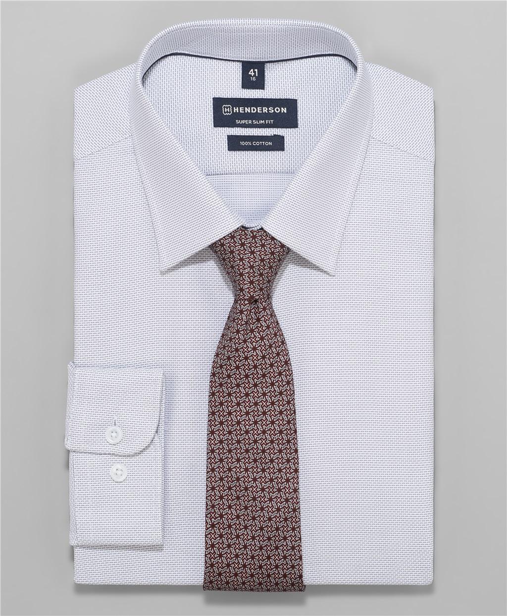 Рубашка прилегающий силуэт HENDERSON SHL-1394 GREY фото