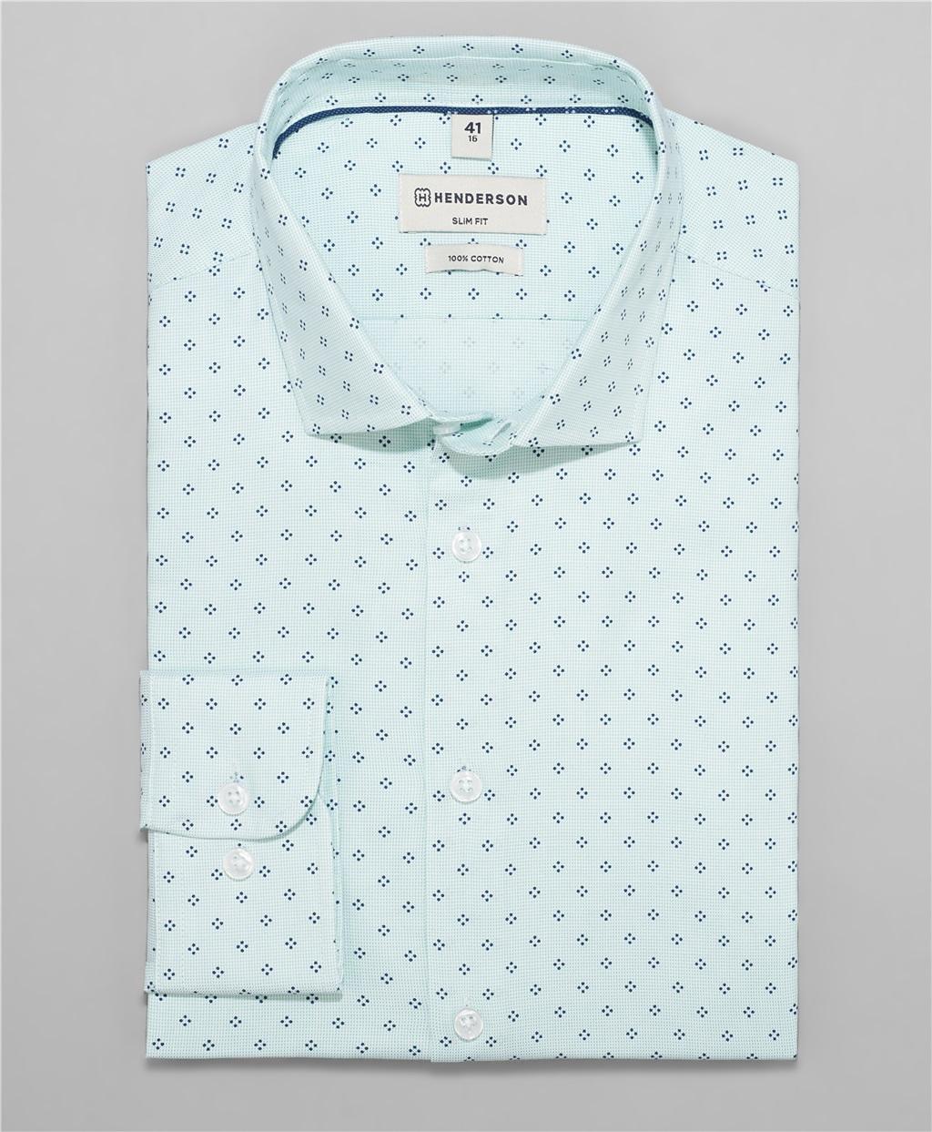 Рубашка полуприлегающий силуэт HENDERSON SHL-1396 OGREEN фото