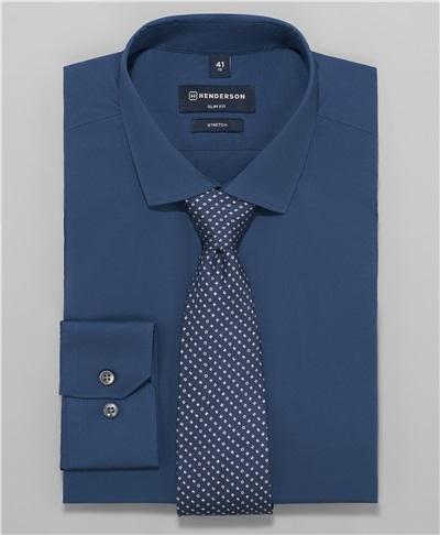 377837f8e2026 фото рубашки полуприлегающего силуэта HENDERSON, цвет темно-синий, ...