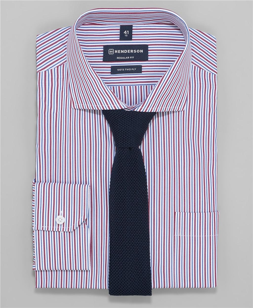 Рубашка прямой силуэт HENDERSON SHL-1405 BORDO фото